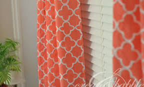Coral Patterned Curtains