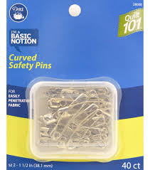 Quilting 101 Curved Safety Pins Size 2 40 Ct | JOANN & Dritz Quilt 101 Curved Safety Pins 40pcs Size 2 Adamdwight.com
