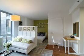 nyc apartment furniture. NYC, Apartment, With, Bookcase, Divider 1, Furniture, Used Nyc Apartment Furniture