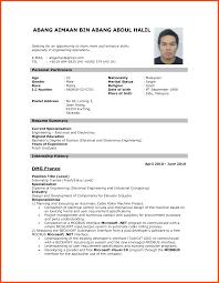 Resume For Jobs Resume Pattern For Job Application Program Format 16