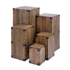 uma wood pedestal set of 5 36