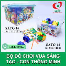 Đồ chơi xếp hình Sato CON THÔNG MINH - VUA SÁNG TẠO