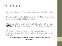 Newspaper Story Template Advanced News Day Template A How To Guide Literacy Test Prep
