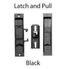 peachtree screen door handle w strike black