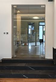 frameless glass double doors clear glass