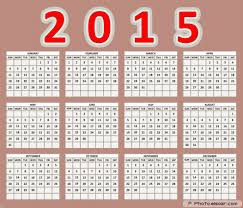 Simple Calendar Template 2015 Get 2015 Printable Calendars Free Download Elsoar