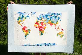 World Map Quilt Quilts Maps Pinterest With - grahamdennis.me & Scrappy Solids Around The World Quilt Shannon Brinkley Studio In Map Adamdwight.com