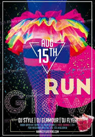 glow flyer glow run psd flyer template 10923 styleflyers