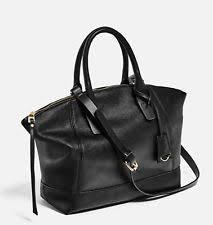 Zara Bag   eBay & ZARA Classic Soft City Bag/Tote/Handbag Faux Leather Gold Trims Black NWT Adamdwight.com