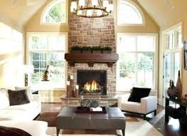 cathedral ceilings fireplace idea