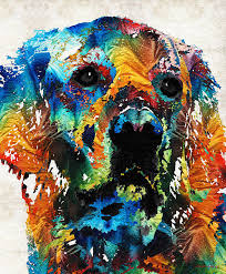 dog painting colorful dog art heart and soul by sharon mings by sharon