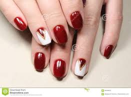 Red And White Nail Designs Manicure Design Red And White Stock Image Image Of Female