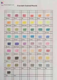 Color Chart For Crayola Colored Pencils The Coloring Inn