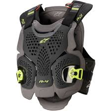 Alpinestars A 4 Max Black Anthracite Yellow Fluo Protection