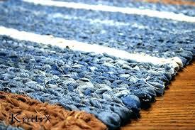 jean rug rag area rugs denim twine blue sisal woven 5 of denim recycled rug blue