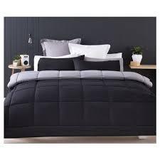 Reversible Comforter Set   Single Bed, Black