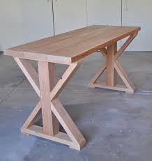 X Base Table: Start to Finish tutorial (based on an Ana White DIY design) |  Varios | Pinterest | Diy design, Ana white and Tutorials
