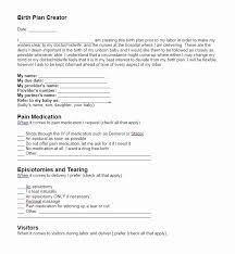Birth Plan Check List Printable Birth Plan Template Mathosproject