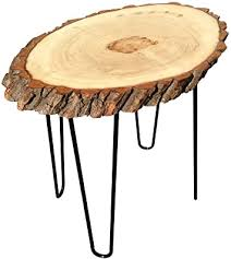 For small items, like dining chairs and bedside tables, this is a great option. Amazon Com Modern Solid Natural Wood Round Slab End Table End Table Coffee Table 2 Kitchen Dining