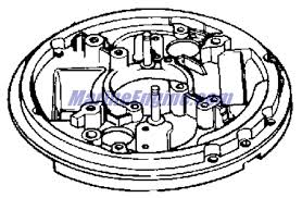 johnson magneto group parts for 1961 3hp jw 17 outboard motor 0581453