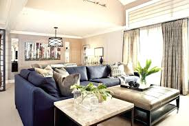 navy blue sectional with white piping