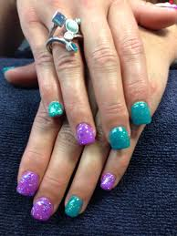 Purple And Teal Nail Designs Danaes Nails Purple And Teal Gel Nail Art Teal Nails