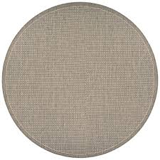 couristan recife saddle stitch champagne taupe 8 ft x 8 ft round indoor