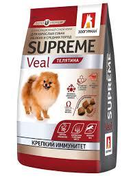 Полнорационный <b>сухой корм</b> д/собак. Supreme, <b>Телятина</b> 1,2 кг ...