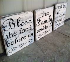 Brilliant Kitchen Decorations For Walls Bless The Food Before Us Sign To Design