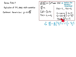 5 minute review 1d steady state conduction cartesian