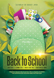 Free Flier Template Free Back To School Flyers Templates For Photoshop By