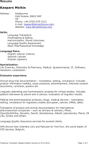 Translator Resume Sample Resume Spanish Translation Resume For Study 43