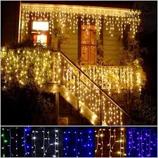 outdoor decoration 35m droop 03 05m curtain icicle string led lights v new year garden