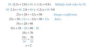 solving linear equations part ii algebraic with decimals worksheet 3843cc33a13ee502e43a63f9dba