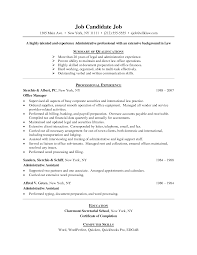 Resumes For Office Jobs 4 Job Resume Example Nardellidesign Com