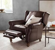 pottery barn recliner. Fine Pottery Percy Leather Recliner Intended Pottery Barn D
