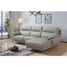 modern sofas for sale. Divani Casa Fortson Modern Grey Eco-Leather Sectional Sofa W/ Right Facing Chaise Sofas For Sale