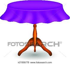 clip art round table with purple tablecloth fotosearch search clipart ilration posters