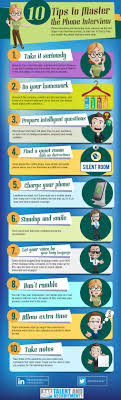 top 10 tips for a great phone interview job search infographics related articles
