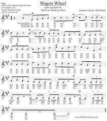 wagon wheel sheet music wagon wheel old crow medicine show fiddle jam institute