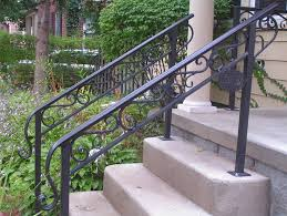 outdoor metal stair railing. Outside Stair Railing Exterior Design Pertaining To Outdoor Railings With Plans 2 Metal L