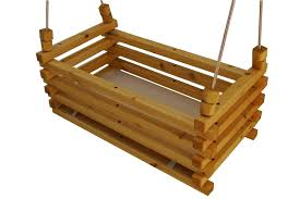 wooden baby rocker hanging crib double swing bassinet plans
