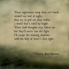 Quotation Poetry Nightmares Poem By Christy Ann Martine Dark Poetry Poems Quotes