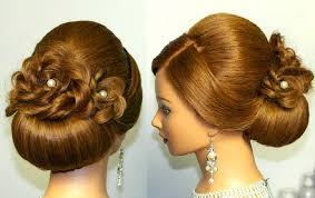 Bridal Hairstyle For Long Hair Updo Tutorial With Braided Flowers