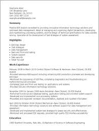 Resume templates for production support edi analyst resume template Interesting Myperfect Resume