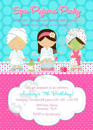 Spa Party Invitation Spa Invitation Spa Party Invite Spa