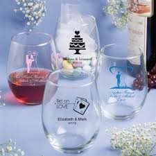 personalized glassware 15 ounce stemless wine glasses on at the wedding pe canada