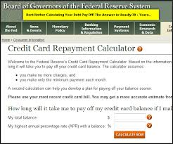 Credit Card Repayment Calculator Minimum Payments On Your Credit