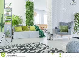 Moderne Flat Met 3d Behang Stock Foto Afbeelding Bestaande Uit