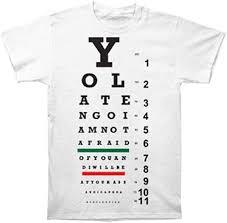 Mens Eye Chart T Shirt White